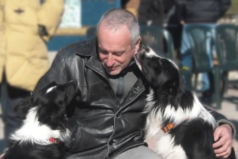 Roger Abrantes with Border Collies