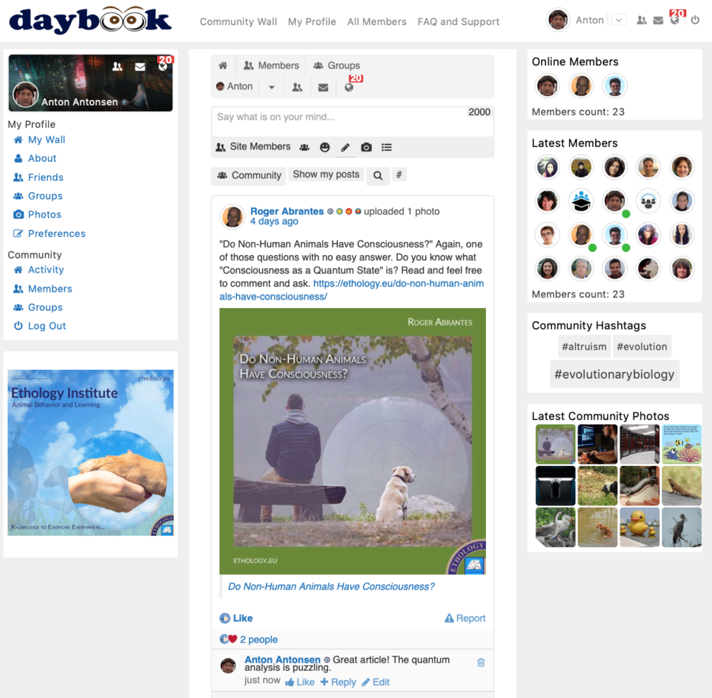Daybook Screen Shot